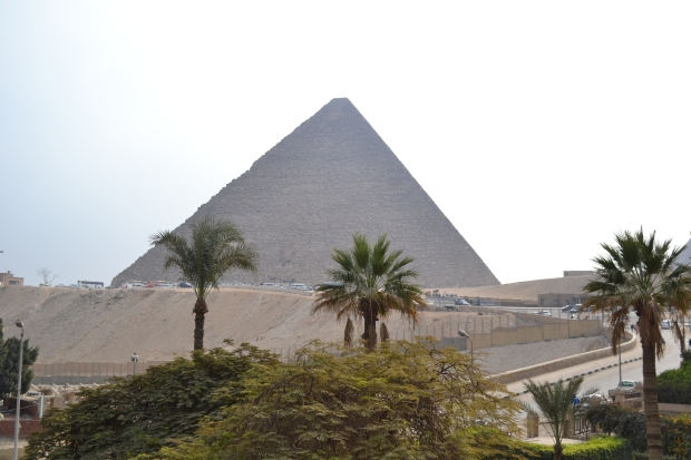 The Pyramids by day taken from approximately the same location as the Earth Hour ones.