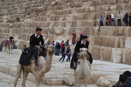 Even the police officers broke the rules and rode their 'security' camels within the vicinity of the Pyramids.