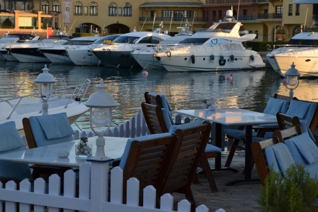 One of the many restaurants at Abu-Tig Marina.