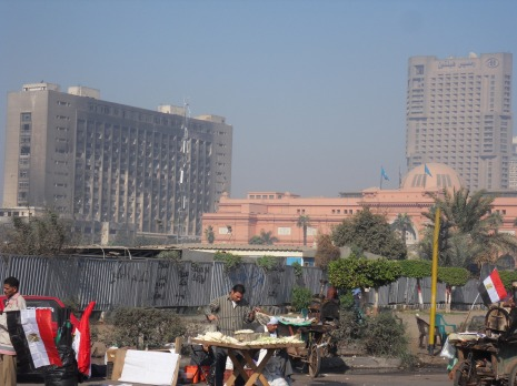 The National Democratic Party's burnt down HQ remains as a stinging reminder of Egypt's 2011 revolution