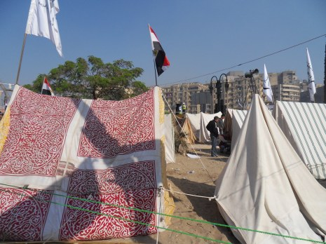 As close as I could get to the tents where many activists were sleeping.
