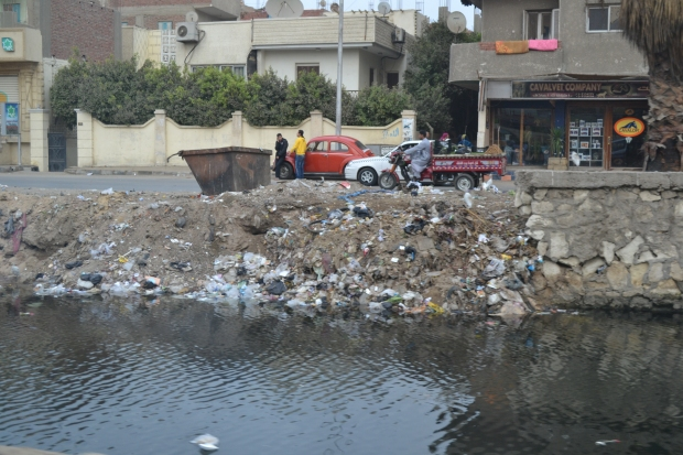 The dumping of garbage in the Nile. This is one of the more 'modest' photos - others (un-captured) are atrocious.