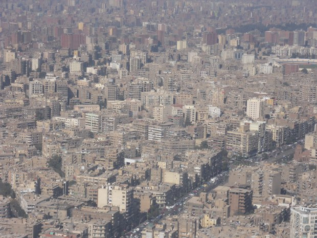 In Cairo, it is rarely possible to see more than a few kilometers ahead of you due to the smog.