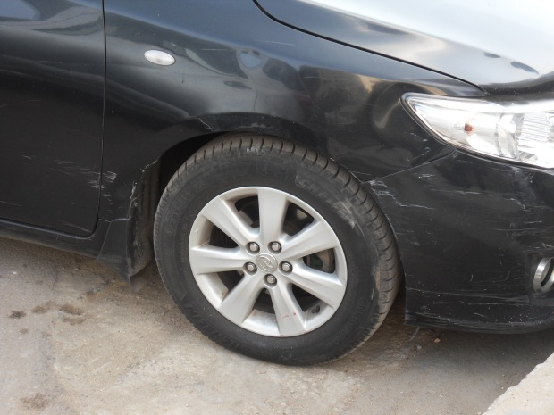 If there's a car in Egypt without a major scratch or bump, then it is either a) still in the showroom, or b) you are being lied to as such a car cannot exist in Egypt.