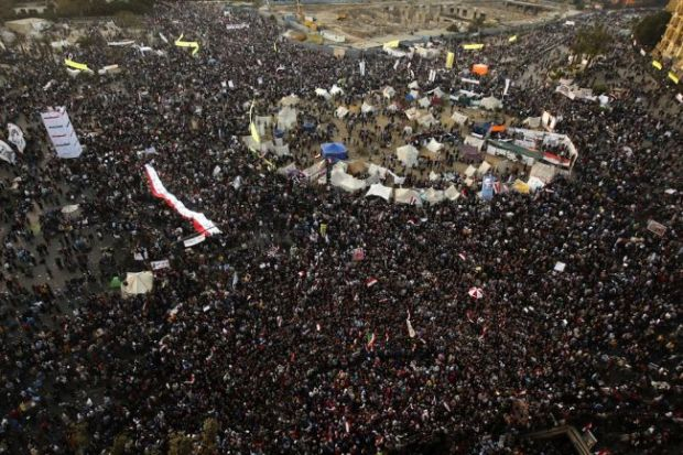 Tahrir Square on January 25, 2013 - early in the day.