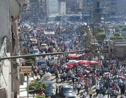 Anti-Morsi protesters in Mahalla