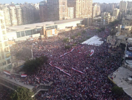Protesters in Egypt's second largest city, Alexandria.