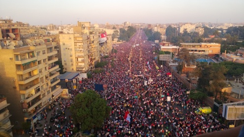 Millions of Egyptians took to the streets against Morsi