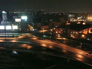 Cairo completely silent during the curfew.