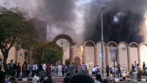 Islamists torch one of Sohag's largest Churches, the Mary Guirguis Church