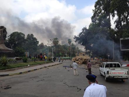 Taken by Omar L'fata (a local resident) on the day police dispersed the Nahda sit-in.