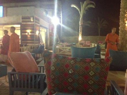 Ahmed Saarfan's empty restaurant as customers fear going out