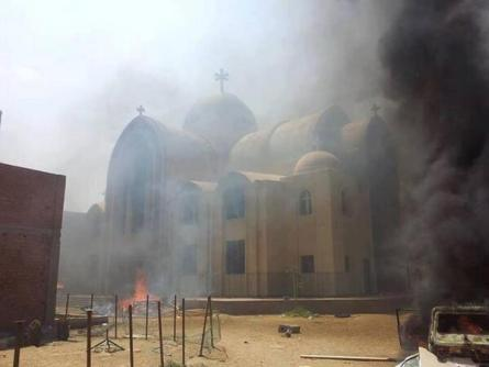 St. Mary Church in Fayoum attacked, looted