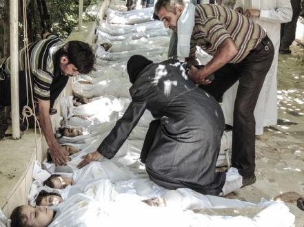 Hundreds of children were reportedly killed in an alleged chemical attack near Damascus last week