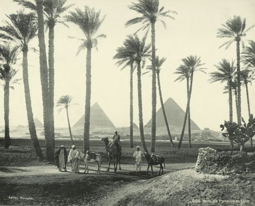 Near the Pyramids in 1875.