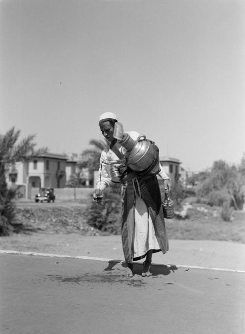 A street peddler in 1935