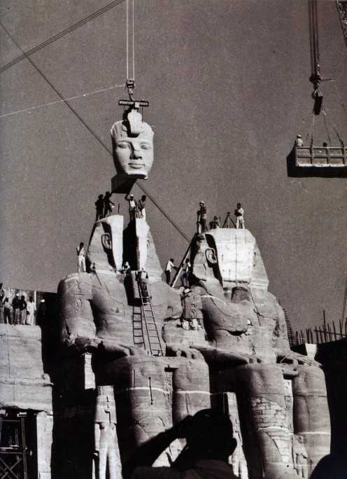 The re-assembling of Abu Simbel in 1968