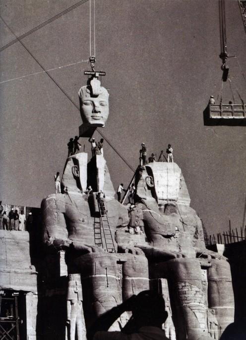 The re-assembling of Abu Simbel in 1968