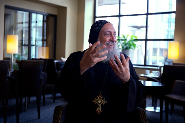 Coptic Bishop Thomas on a visit to Norway