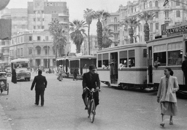 A Cairo street in 1954