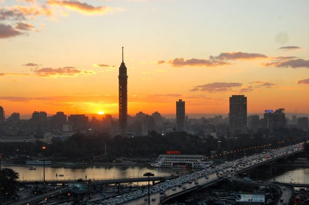 A sunset in Cairo, 2013
