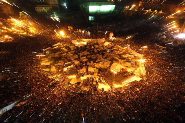 Tahrir Square on January 25, 2011