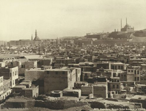 'Old' Cairo in the 1870s with the Citadel in the background