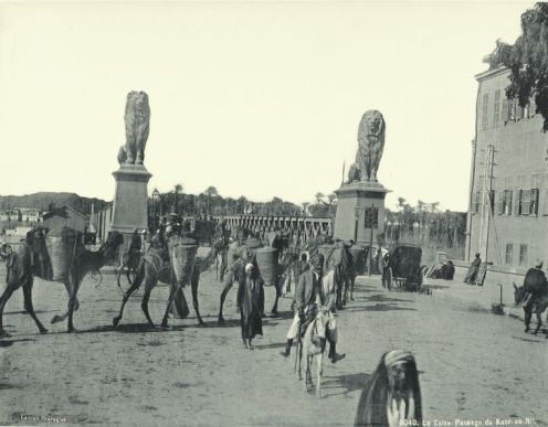 Qasr Al-Nil Bridge near Tahrir Square 1880-1890s