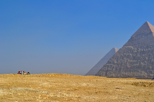 The Pyramids of Giza: the only remaining ancient world wonder.
