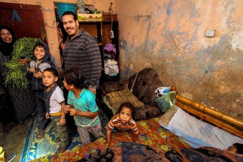 Poverty is rampant in Egypt. This photograph was taken by Robert Johnson of Business Insider during a visit to a family in one of Egypt's poorest areas: Dar el-Salam.
