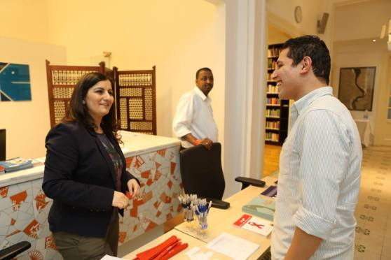 Abir, Project Coordinator of Love Matters, at the recent launch event in Cairo.