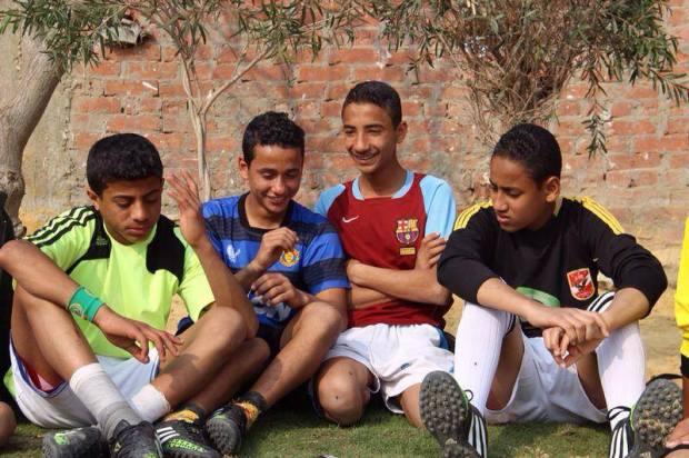 Children during practice in Egypt