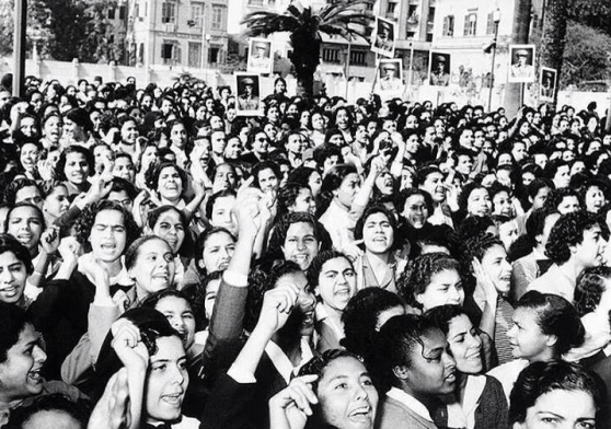 Women in Egypt were the first in the Arab world to be granted full political rights in 1956.