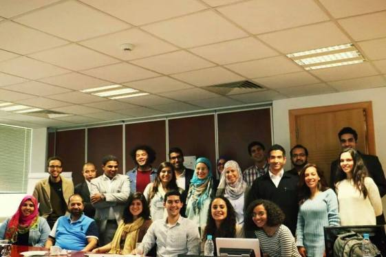 Participants of the round-table discussion on entrepreneurship in Egypt