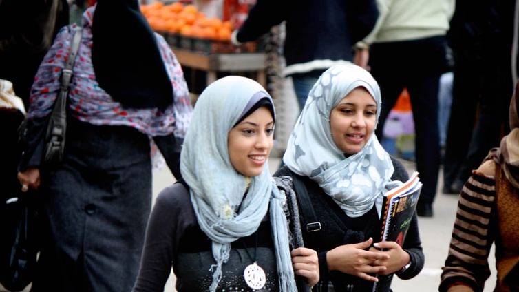 Women wearing the head-scarf are refused entry at most bars and night clubs in Egypt