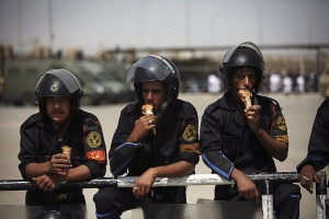 There is always time for ice-cream (Note: these are riot police)