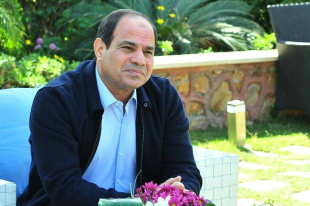 Sisi appears in civilian uniform for the first time after retiring from the Military